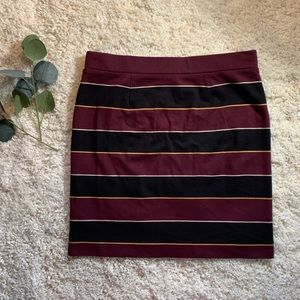 Fossil Skirts - Fossil Striped Bodycon Skirt